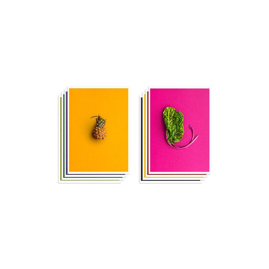 Food art postcards